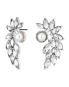 Mood Pearl Crystal Lobe Stud Earring