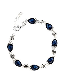 Jon Richard Blue Pear Bracelet