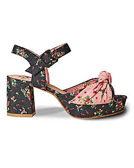 Joe Browns Floral Platform Shoe EEE Fit