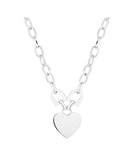 Mood Silver Heart Pendant Necklace