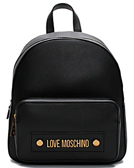 Love Moschino Stud Logo Backpack