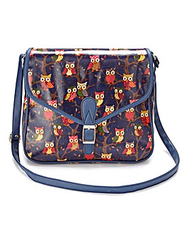 Navy Owl Shoulder Bag