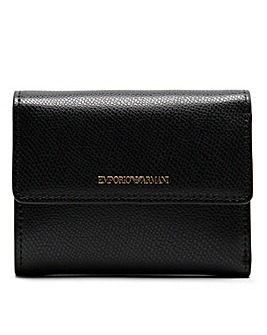 Emporio Armani Pebbled Bi Fold Wallet