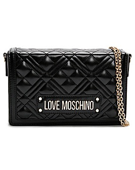 Love Moschino Quilted Stud Logo Clutch