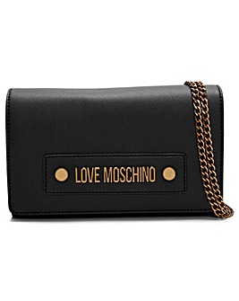Love Moschino Studded Logo Clutch Bag