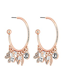 Mood Rose Gold Plated Meadow Charm Hoops
