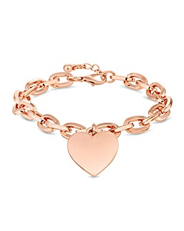 Mood Rose Gold Plate Pink Heart Bracelet