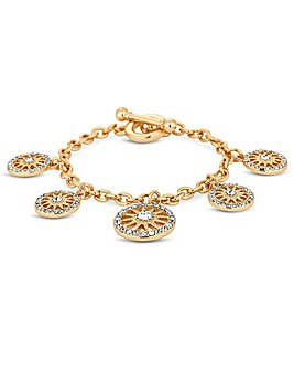 Mood Gold Plated Clear  Star  Bracelet