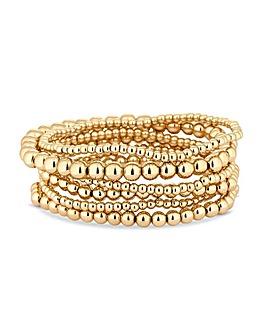 Mood Gold Multipack Stretch Bracelet