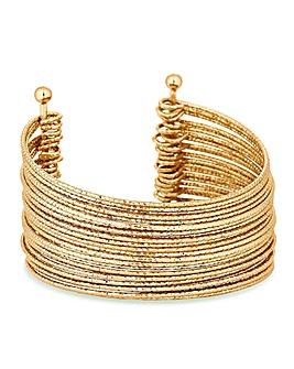 Mood Gold  Statement Cuff Bracelet