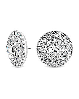 Mood Silver Plated Round Stud Earring