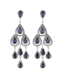 Mood Blue Teardrop Chandelier Earring