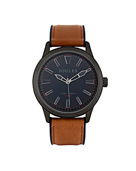 Joules Tan Strap Navy Dial Watch