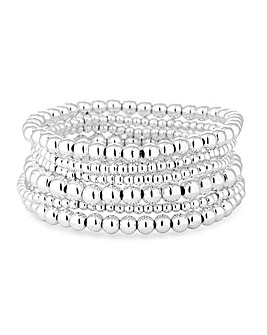 Mood Silver Multipack Stretch Bracelet