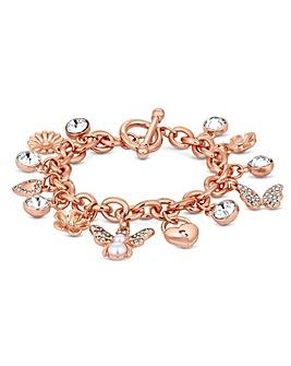 Mood Rose Gold Plate Charm Bug  Bracelet