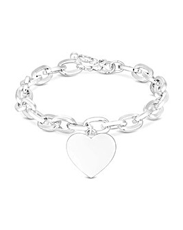 Mood Silver Plated Silver Heart Bracelet