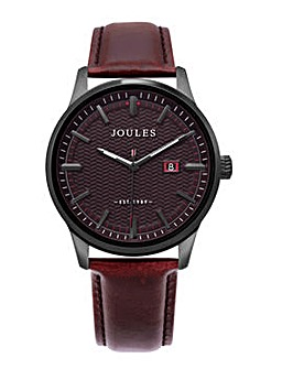 Joules Brown Strap Watch Port Dial