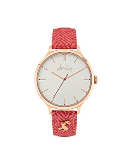 Joules Pink Strap Watch