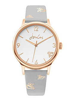 Joules Grey Strap White Dial Watch