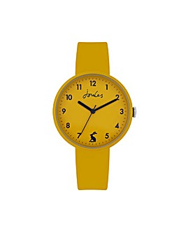 Joules Yellow Silicone Strap Watch