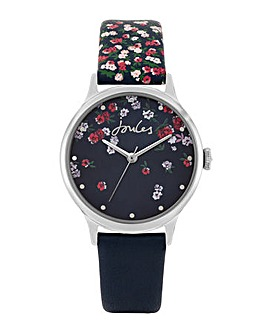 Joules Navy Printed Strap Watch
