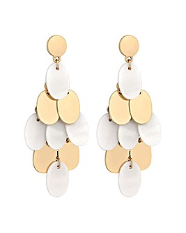 Mood Gold Plated Cream Drop Earring