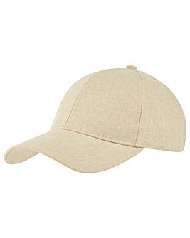Accessorize Linen Baseball Cap