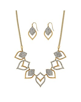 Mood Gold Plated Pave Medina Cutout Set