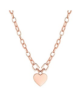 Mood Rose Gold Plated Pink Heart Pendant