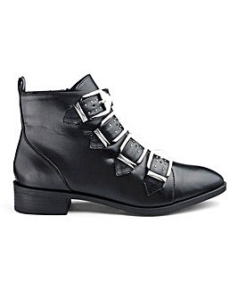 Camden Multi Buckle Boots Extra Wide Fit