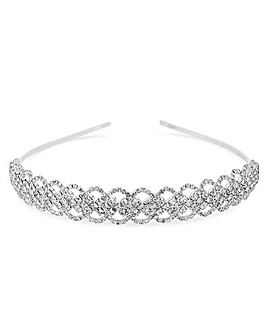 Mood Silver Diamante Lattice Aliceband