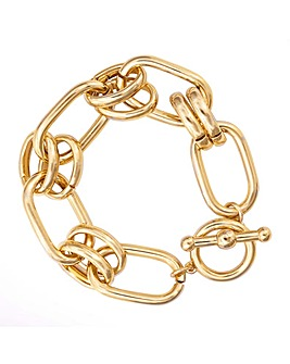 Mood Gold Plated Chain Link Bracelet