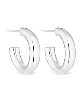 Simply Silver Mini Round Chunky Hoops