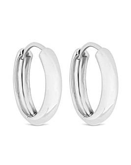Simply Silver Silver Hoop Earrings