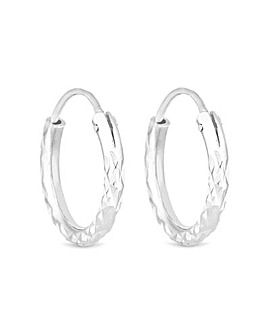 Simply Silver Mini Hoop Earring