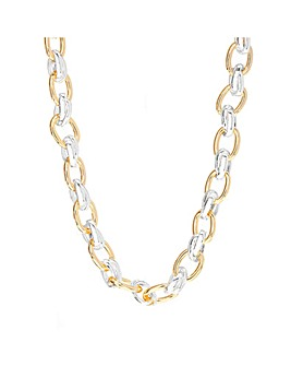 Silver And Gold Plate Chain Necklace
