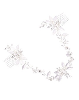 Jon Richard Crystal & Pearl Hair Comb
