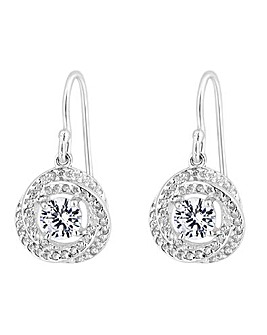 Simply Silver Knot Drop Earrings