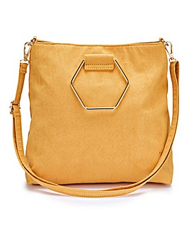 Mustard Hexagonal Grab Handle Bag