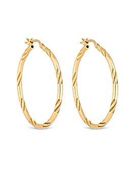 Simply Silver Yellow Gold Twist Earring