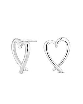 Simply Silver Heart Stud Earring
