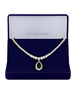 Jon Richard Emerald Tennis Necklace