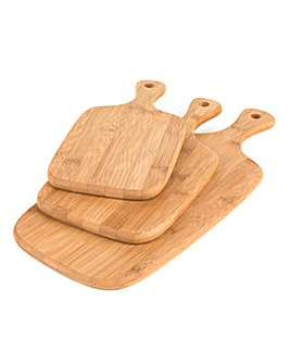 Salter Set of 3 Bamboo Paddle Chopping Boards