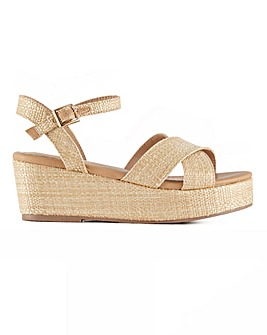 Head Over Heels Kit Platform Wedge Sandals Standard D Fit