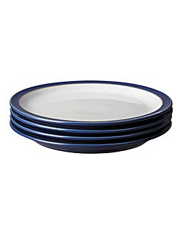 Denby Elements set of 4 Medium Plates
