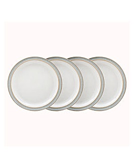 Denby Elements set of 4 Dinner Plates