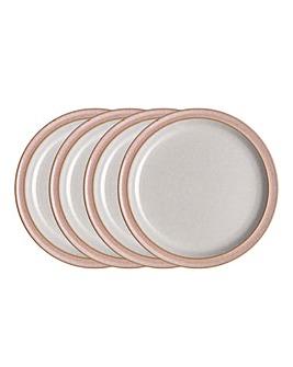 Denby Elements set of 4 Dinner Plates