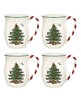 Xmas Tree Mug with Peppermint Handle