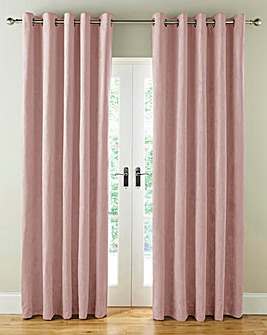 Faux Suede Blackout Long Eyelet Curtains
