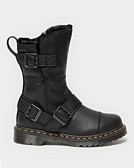 Dr Martens Kristy Buckle Leather Ankle Boots Standard D Fit